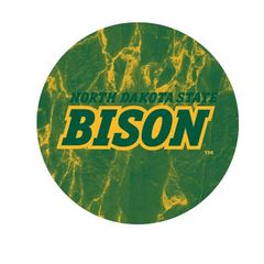 NDSU Bison Marble 1 Pewter Key Chain or Money Clip