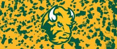 NDSU Head Logo on Confetti 6 Rectangle Ring Stand™ Phone Holder