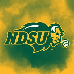 "4"" Square NDSU Primary Logo Clouds 1 Sandstone Coaster"