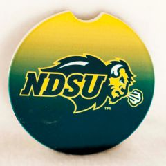 NDSU Primary Logo Gradient 1 Sandstone Car Coaster