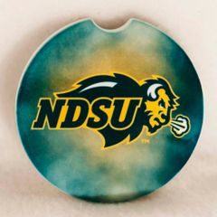 NDSU Primary Logo Fog 2 Sandstone Car Coaster