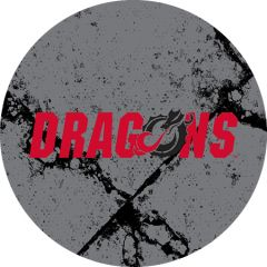 Dragons in Red Black Dragon Cracks 2 on Grey Sandstone Car Coaster