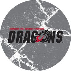 MSUM Dragons in Black Cracks 1 on Grey Sandstone Car Coaster