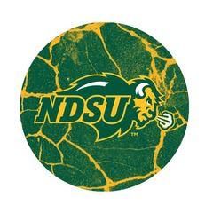 NDSU Primary Cracks 2 Round Pendant