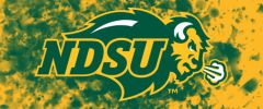 NDSU Primary Logo on Confetti 5 Rectangle Ring Stand™ Phone Holder