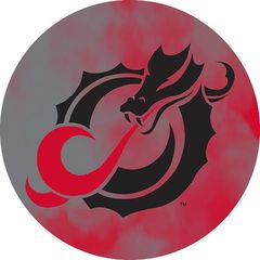 MSUM Black Dragon Clouds 1 on Red Sandstone Car Coaster