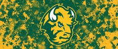NDSU Head Logo on Confetti 4 Rectangle Ring Stand™ Phone Holder
