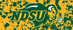 NDSU Primary Logo on Confetti 3 Rectangle Ring Stand™ Phone Holder