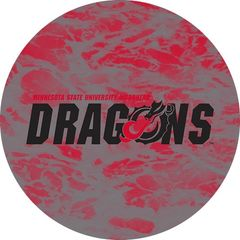 MSUM Dragons in Black Water 1 on Red Sandstone Car Coaster