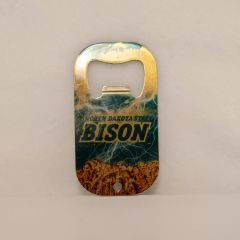 Bison Clouds Lightning and Wheat Credit Card Style Steel Bottle Opener