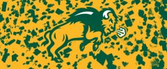 NDSU Body Logo on Confetti 6 Rectangle Ring Stand™ Phone Holder