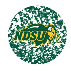 NDSU Primary Confetti 2 Round Ring Stand™ Phone Holder