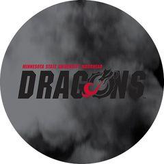 MSUM Dragons in Black Clouds 1 on Black Sandstone Car Coaster