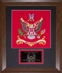 Desert Shield / Storm Veterans' Framed Colors with Plate.