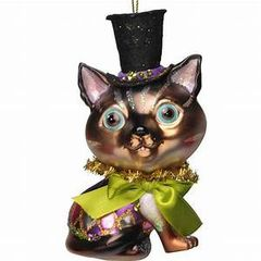 CAT WITH TOP HAT- Trim-A-Tree Ornament