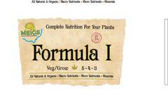 Formula 1: Veg/Grow