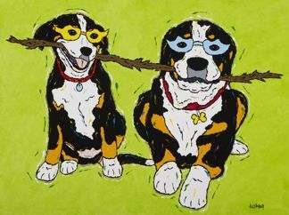 Let's Stick Together - Greater Swiss Mountain Dog