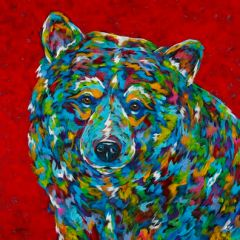 "Bear With Me - 12"" sq. METAL PRINT"