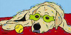 Patiently Waiting - Yellow Labrador Retriever