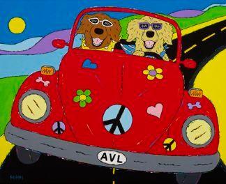 Peace, Woof & Love - Golden Retrievers