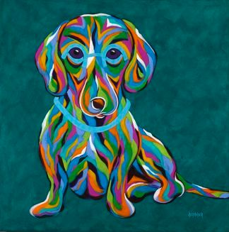It's All About Me! - Dachshund Abstract