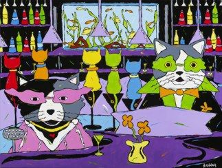 Meowtini Bar - Cats