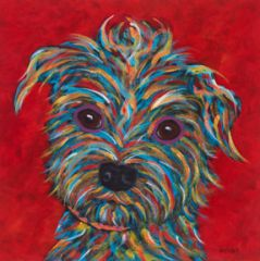 "It's All About Me, Terrier - Metal Print, SIZE 10"" sq"