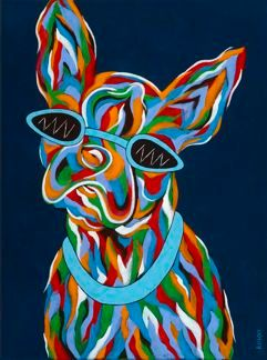 Gotta Wear Shades - Boston Terrier Abstract