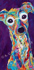 "I Love You More - Italian Greyhound Metal Print, SIZE 10"" w x 20"" h"
