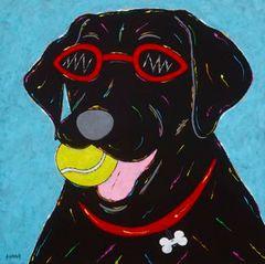 I Win! - Black Labrador Retriever