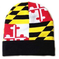 Maryland State Flag Cuff Beanie