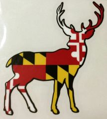 "Decal Maryland Deer 3"" or 6"""