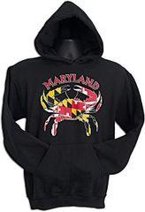 Maryland Crab Flag Sweatshirt
