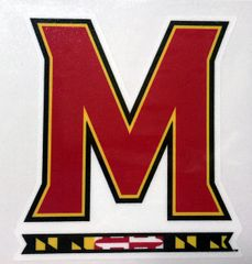 "Decal University of Maryland ""M"""