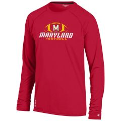 Maryland Long Sleeve Football Tee