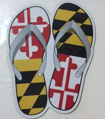 "Decal or Magnet Maryland Flip Flop 3"" or 6"""