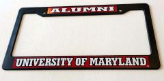 Maryland Alumni Plastic License Plate Frame