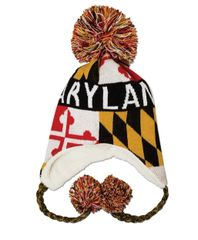 Maryland Kids Pom Pom Tassels Hat
