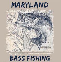 Maryland Bass Fishing Tee