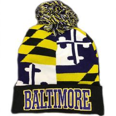 Baltimore Embroidered State Flag Knit Hat