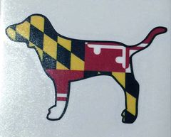 "Decal or Magnet Maryland Dog 3"" or 6"""