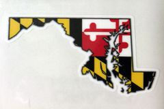 "Decal or Magnet Maryland State Outline 3"" or 6"""