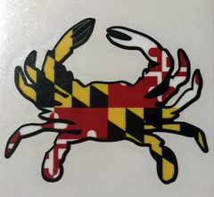 "Decal or Magnet Maryland Crab 3"" or 6"""