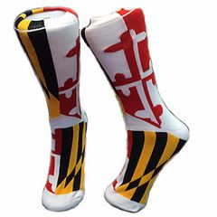 Maryland State Flag Crew Socks