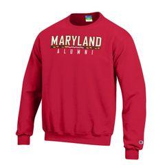 Maryland Alumni Red Crew Sweatshirt