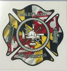 "Decal Maryland Fire Fighter 3"" or 6"""