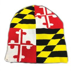 Maryland State Flag Skull Cap
