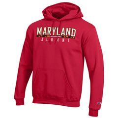 Maryland Red Alumni Hooded Sweatshirt