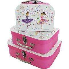 Triple Carry Case - Pink Ballerina