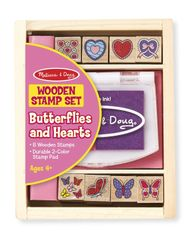 Melissa and Doug Hearts and Butterflies Stamps